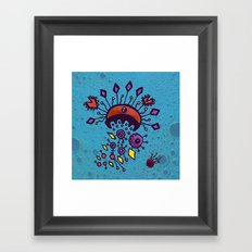 Sea of Atoms - Crab Molecule Framed Art Print