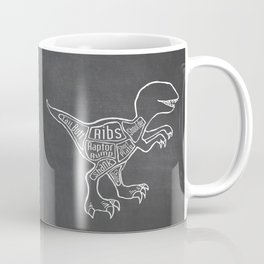 Raptor Dinosaur (A.K.A Bird of Prey) Butcher Meat Diagram Coffee Mug