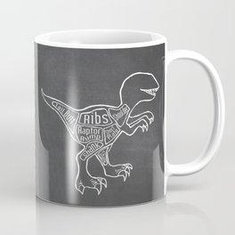 Raptor Dinosaur (A.K.A Bird of Prey) Butcher Meat Diagram Coffee Mug