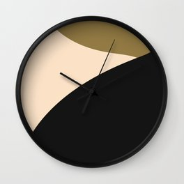 Less is more tri color abstract Wall Clock