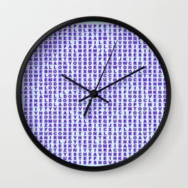 Find Happy Thoughts Wall Clock