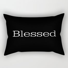 BLESSED Black & White Rectangular Pillow