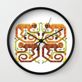 Monkeys Wall Clock