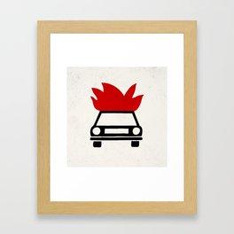 the car's on fire Framed Art Print