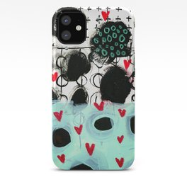 Falling Hearts iPhone Case