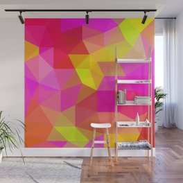 Citrus Candy Low Poly Wall Mural