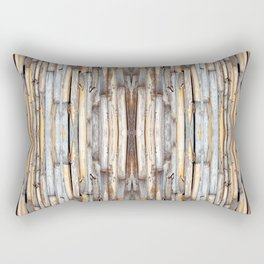 fence at the house of bamboo stems Rectangular Pillow