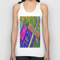 agate Tank Tops featuring Agate by RingWaveArt