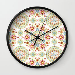 Flower Crown Carnival Wall Clock