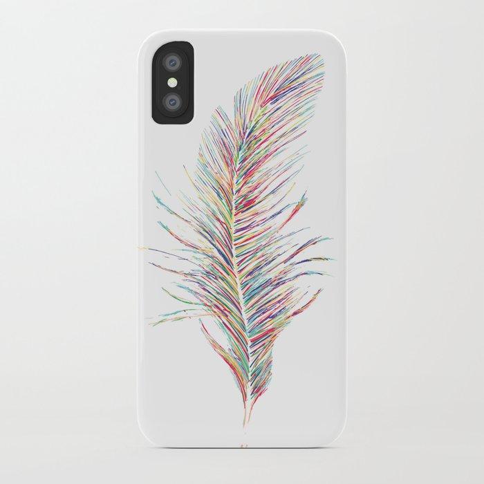 Rainbow Feather  iPhone Case