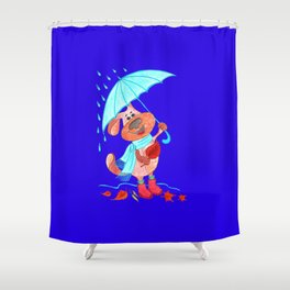 Dog Zahar and Autumn Shower Curtain