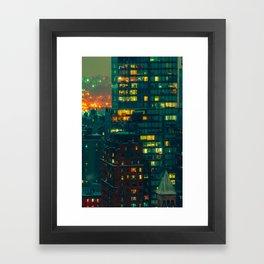 NYC Nights Framed Art Print