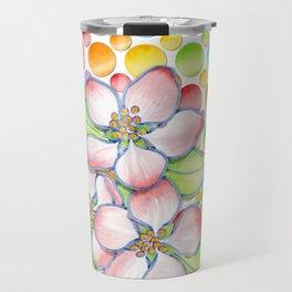 Apple Blossom Polka Dots Travel Mug