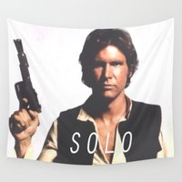 han solo Wall Tapestries featuring Han / Solo by Earl of Grey