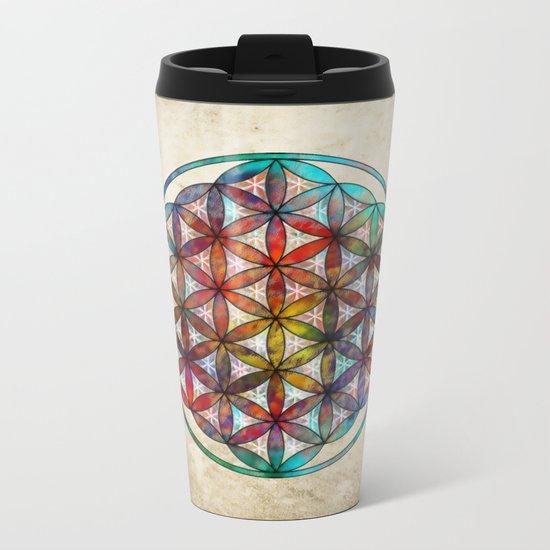 Flower of Life Metal Travel Mug