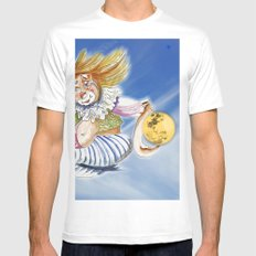 Fetching the Moon White MEDIUM Mens Fitted Tee