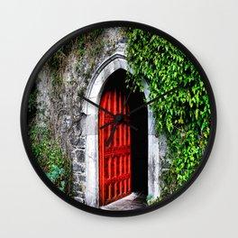 Red Door Wall Clock