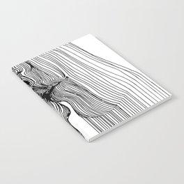 Sensual 3D Line Art Notebook