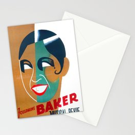 Josephine Baker Vintage Poster for Stockholm Stationery Cards