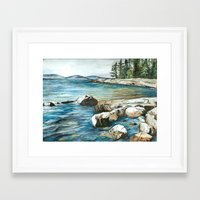 maine Framed Art Prints featuring Maine by Micaela Payne