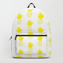 Yellow Pineapple Pattern 2 Backpack