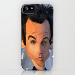 Ben Stiller Caricature iPhone Case