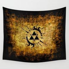 Legend Of Zelda Triforce Grunge Wall Tapestry