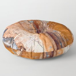 Butter Pecan Praline Marble Agate Faux Design Floor Pillow