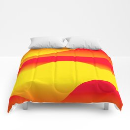 Abstract Sunset Comforters