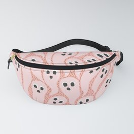Ghostly Swarm on Pattern   Pink Fanny Pack