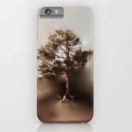 Misty Tree of Life on the Coastal Edge iPhone Case