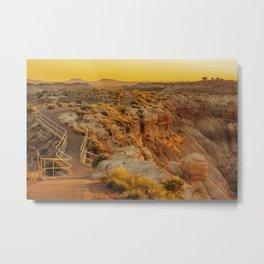 Blue Mesa Trailhead at Petrified Forest National Park Metal Print