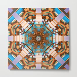 Geometric kaleidoscope with optical effects Metal Print