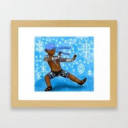 Fab Fighter Blizzard Fist Framed Art Print