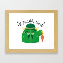 A Prickly Sort: Brolly Framed Art Print