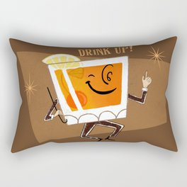 Mr. Whiskey Says Drink Up Rectangular Pillow