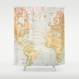 Pastel World Shower Curtain