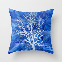 and the seed became tree Throw Pillow