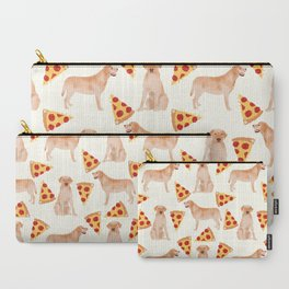 yellow lab pizza dog breed pet portrait gifts for labrador retriever lovers Carry-All Pouch