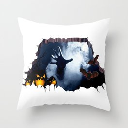 The hand of hell Throw Pillow