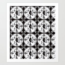 Ankh Anubis Alchemy Art Print