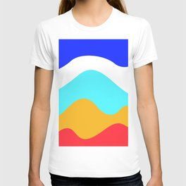 Abstract minimalist waves T-shirt