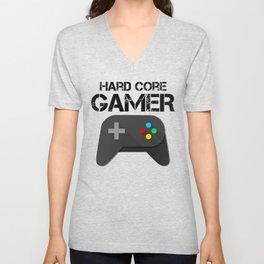 Game Console Black Joystick Unisex V-Neck