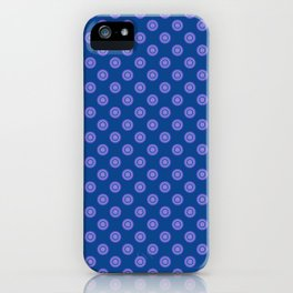 Lavender Blue Polka Dot Pattern iPhone Case