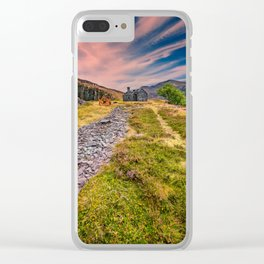 Quarry Sunset Snowdonia Clear iPhone Case