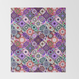 Moroccan bazaar | purple Throw Blanket