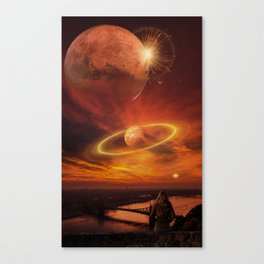 The Planets Cosmos Girl by GEN Z Canvas Print