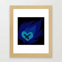 Burning wounded heart Framed Art Print