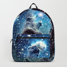 Pillars of Creation Nebula: Ocean Blue Galaxy Backpack