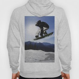Born To Fly Snowboarder & Mountains Hoody